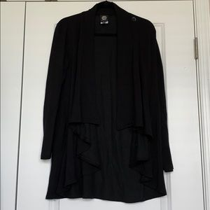 Bobeau black open cardigan